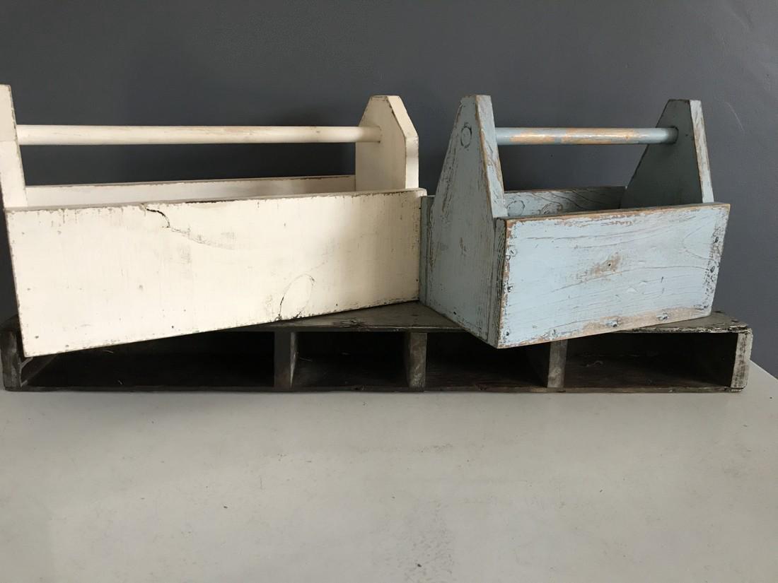 Blue Tool Box, White Tool Box, & Tool Box Shelf - 4