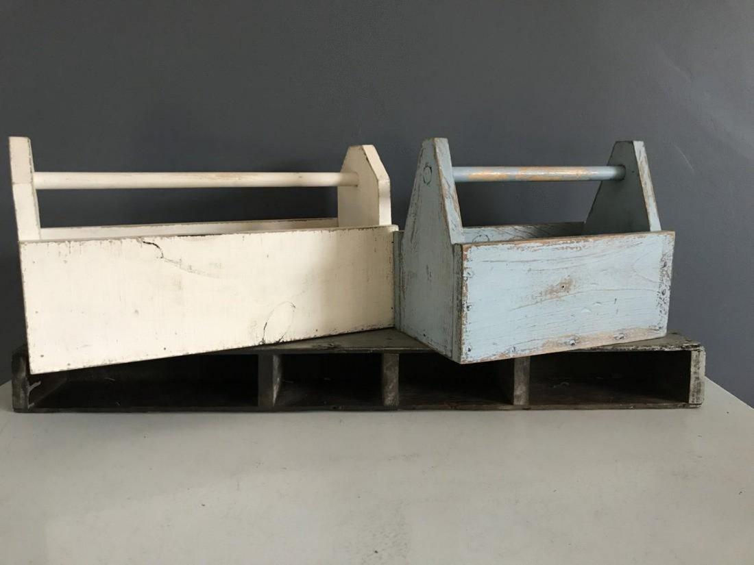 Blue Tool Box, White Tool Box, & Tool Box Shelf - 5