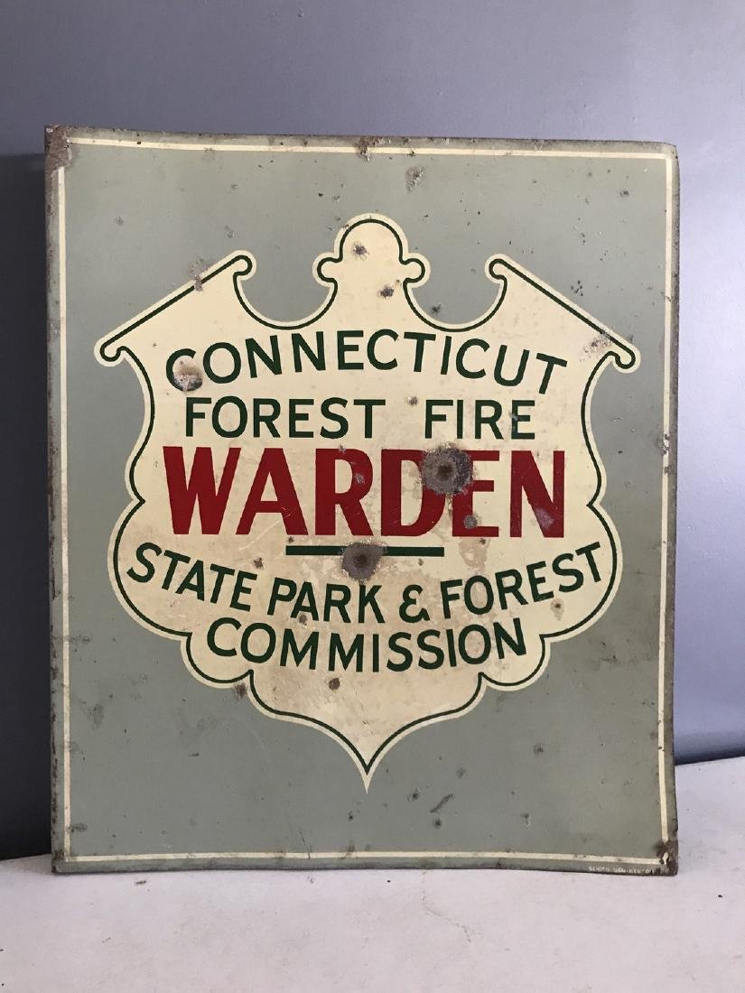 Porcelain Connecticut Forest Fire State Parks Sign
