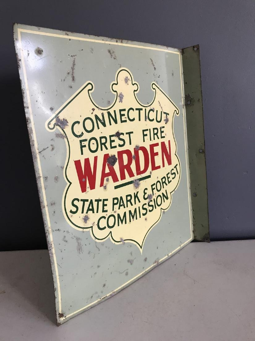 Porcelain Connecticut Forest Fire State Parks Sign - 4