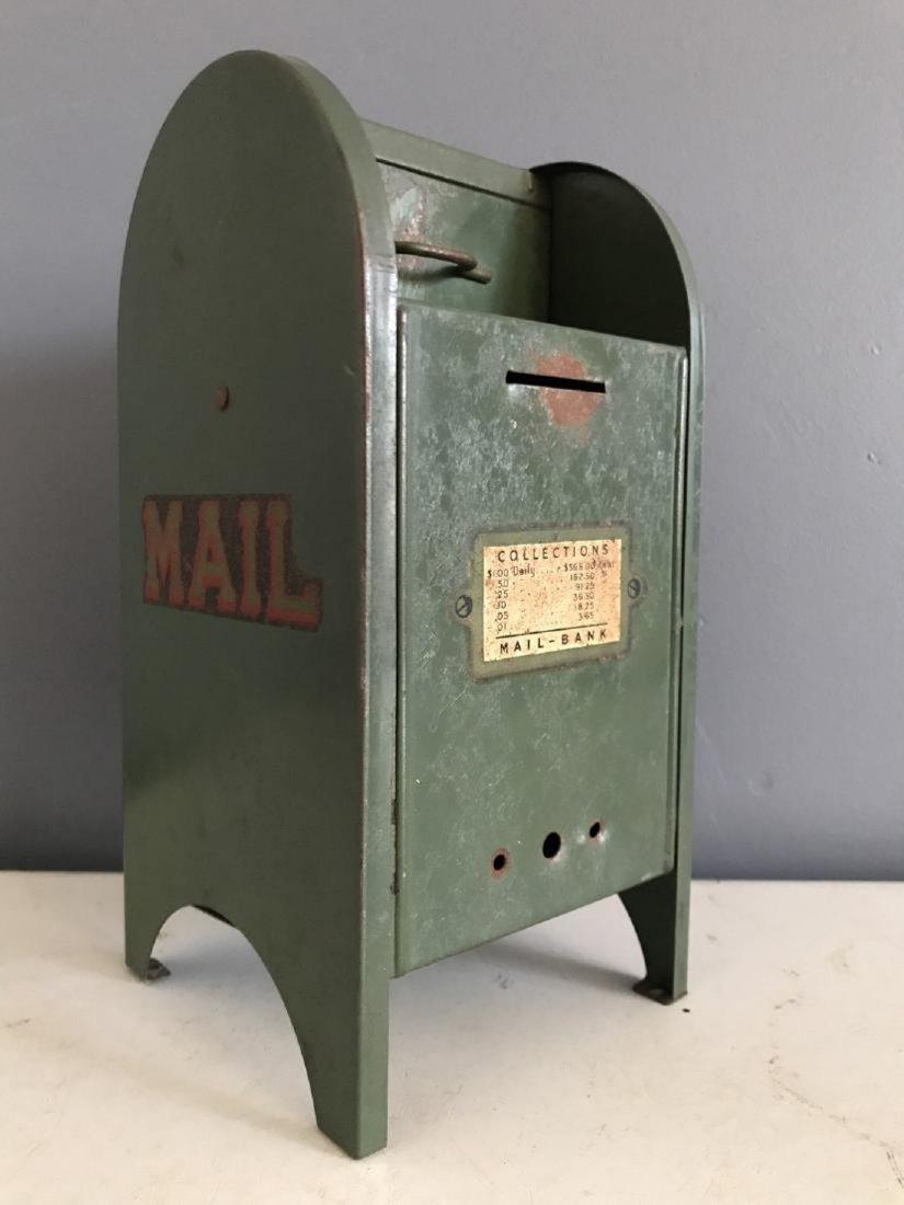 Tin Litho Mailbox Bank
