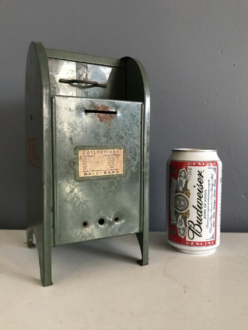 Tin Litho Mailbox Bank - 2