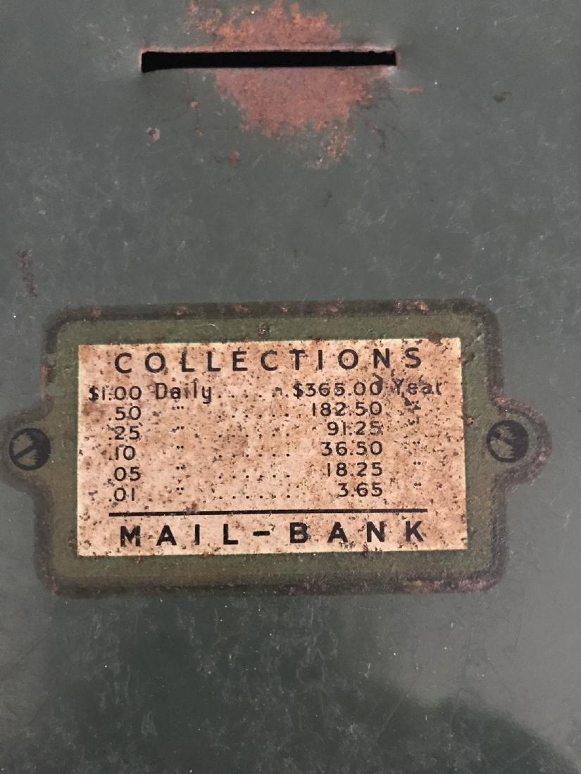 Tin Litho Mailbox Bank - 6