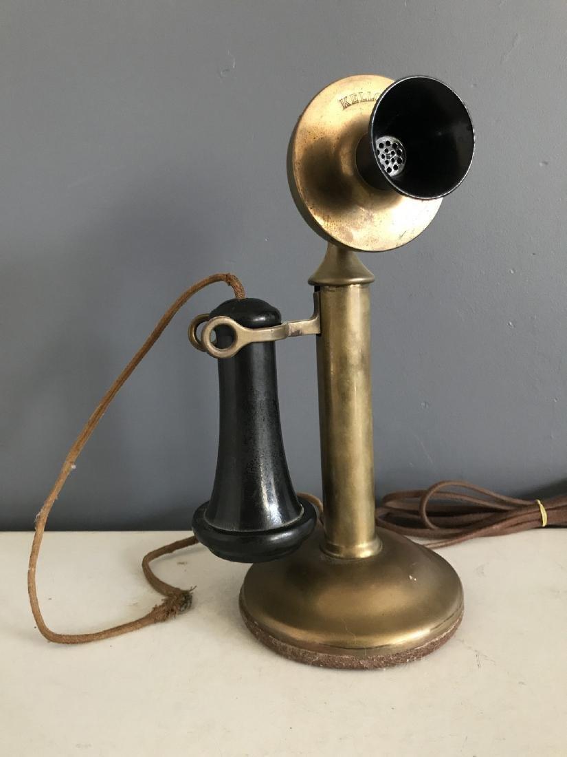 Kellogg Brass Candlestick Phone