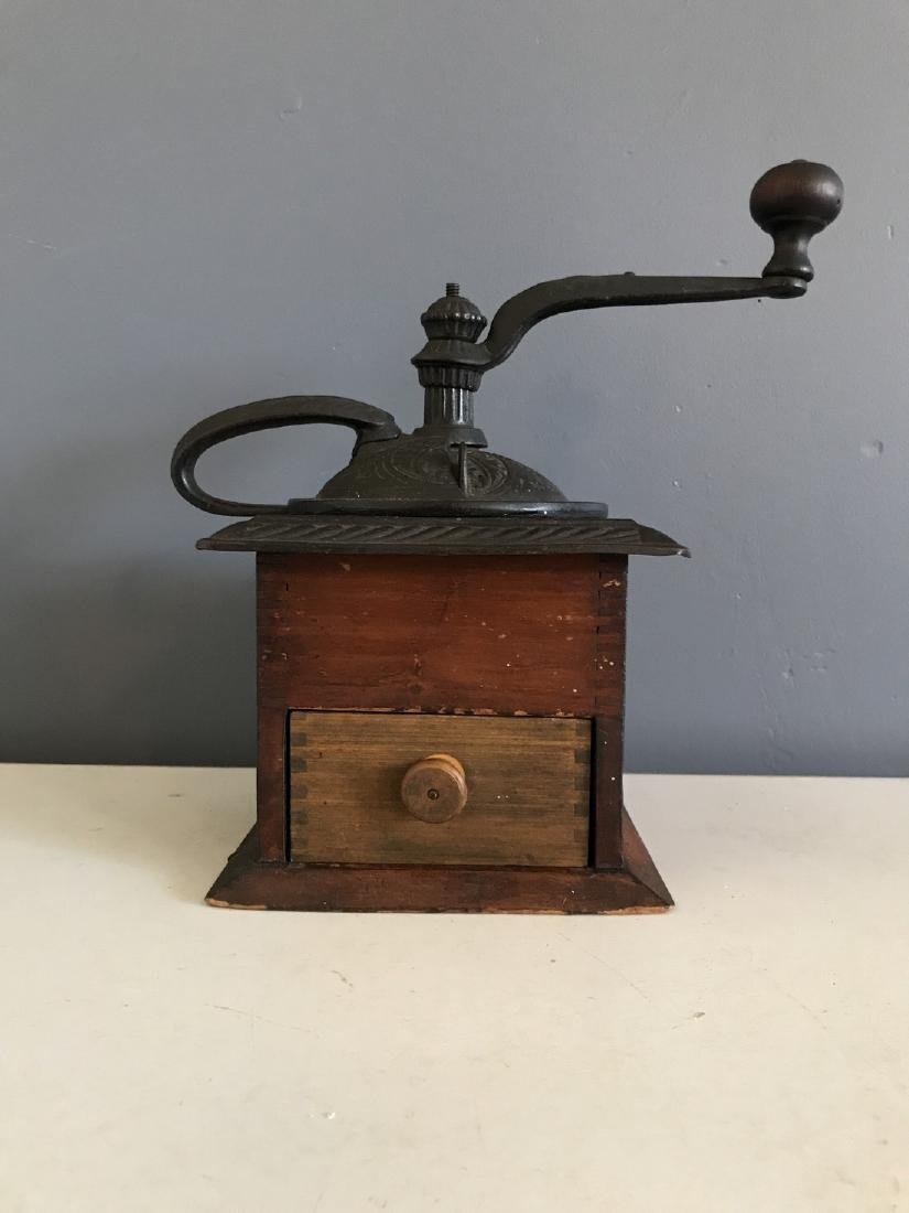 Old Finger Jointed Coffee Mill