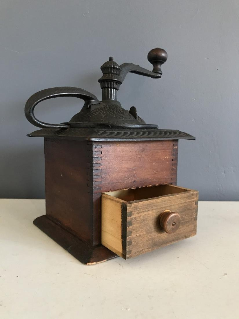 Old Finger Jointed Coffee Mill - 2
