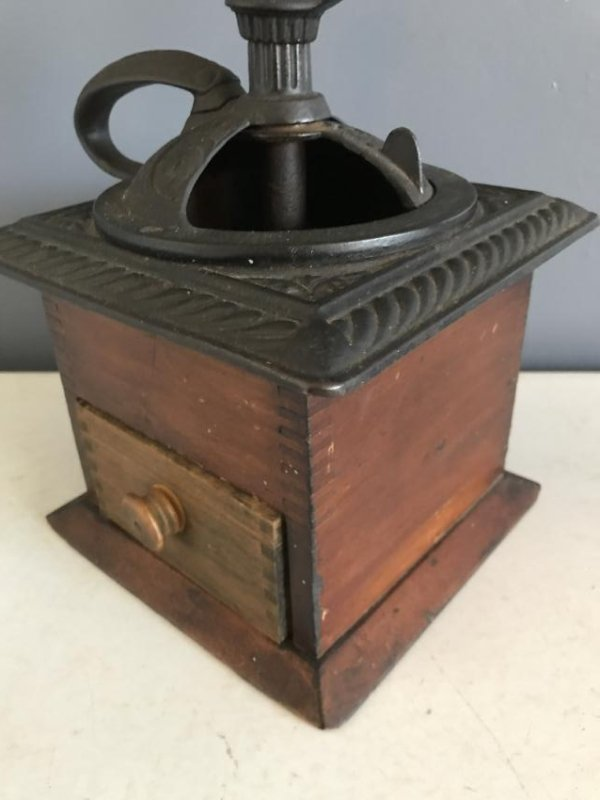 Old Finger Jointed Coffee Mill - 3