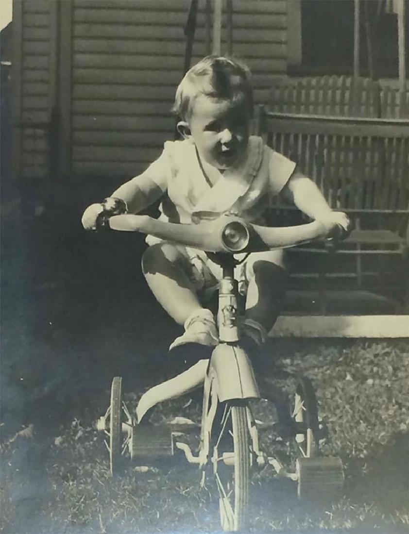 C1930 Photo Baby on Art Deco Junior Tricycle