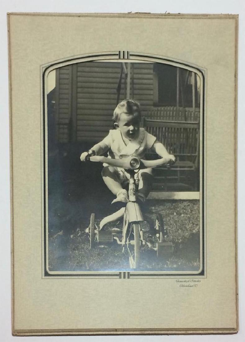 C1930 Photo Baby on Art Deco Junior Tricycle - 2