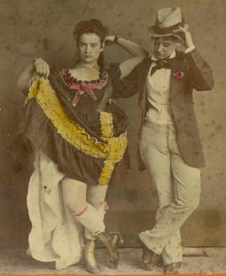 1880 Risque Lady Dress Hiked up Cross Dresser Woman