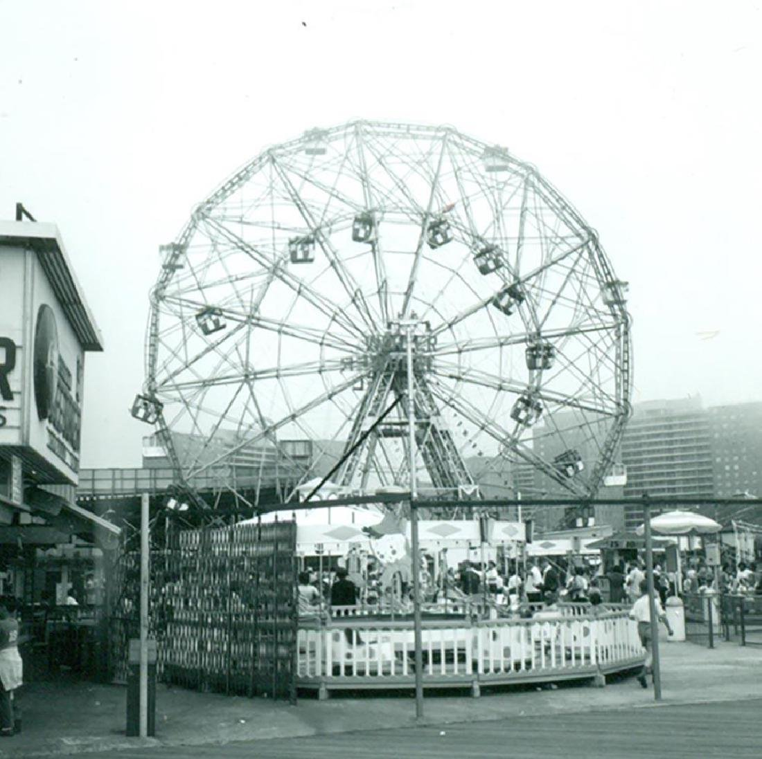 1962 Snapshot Wonder Wheel Ferris Wheel Coney Island