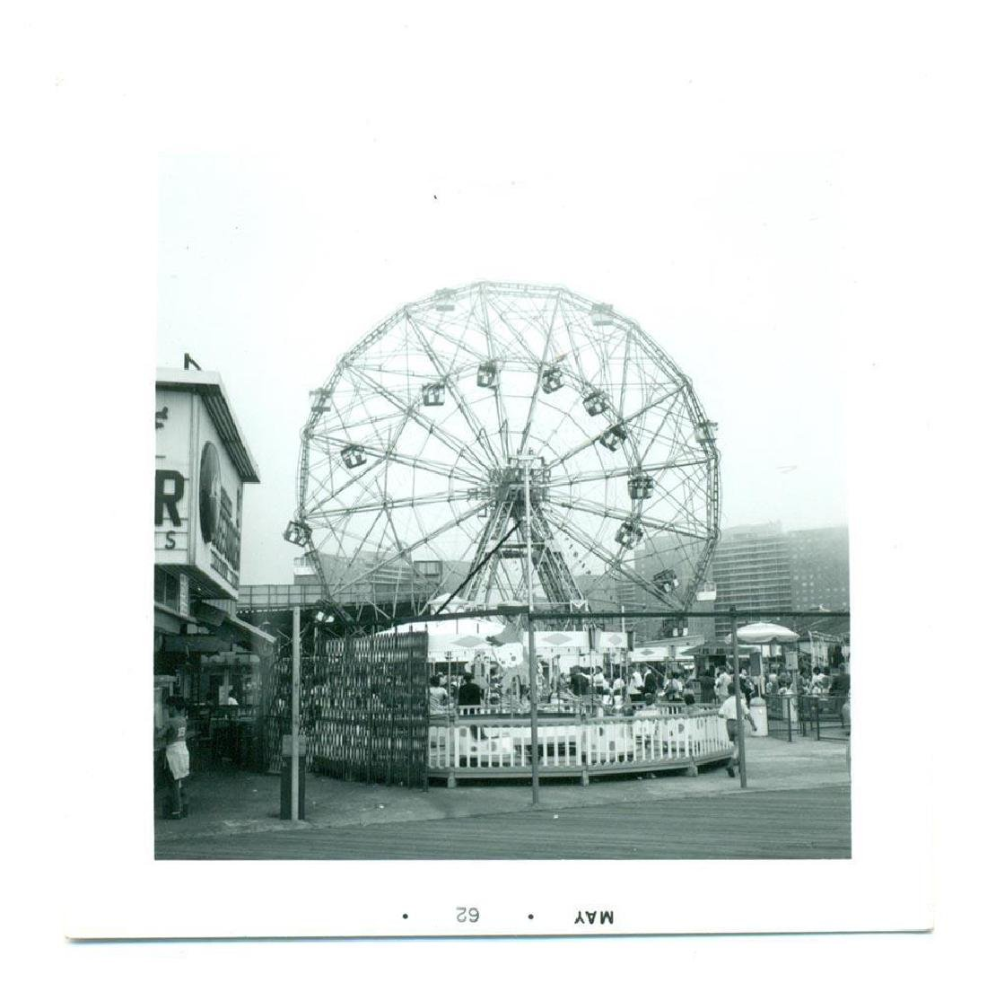1962 Snapshot Wonder Wheel Ferris Wheel Coney Island - 2