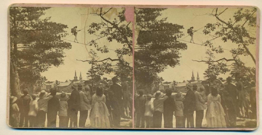 Rare 1872 Tightrope Walker Charles Hilton Stove on Back - 2