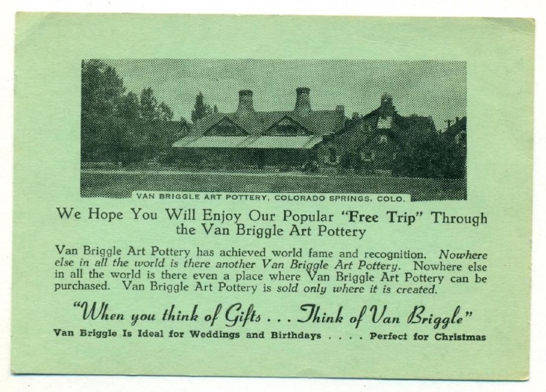 Vintage Ad Card Van Briggle Pottery Colorado Springs