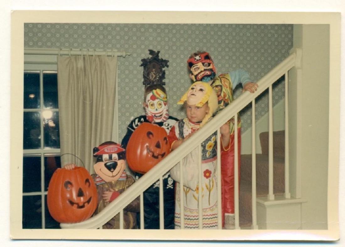 1970 Vintage Halloween Color Snapshot Kids in Costume - 2