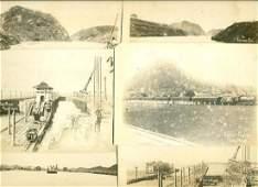 Lot of 6 C 1914 Panama Canal Pedro Miguel Locks Culebra