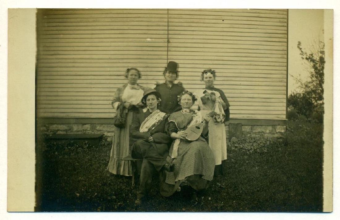 1915 Bizarre Group 5 Women Costume Performer Mandolin - 2