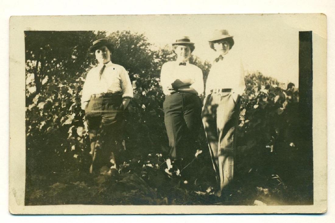 1915 Bizarre Cross Dress Ing Trio Masculine Women Suit - 2