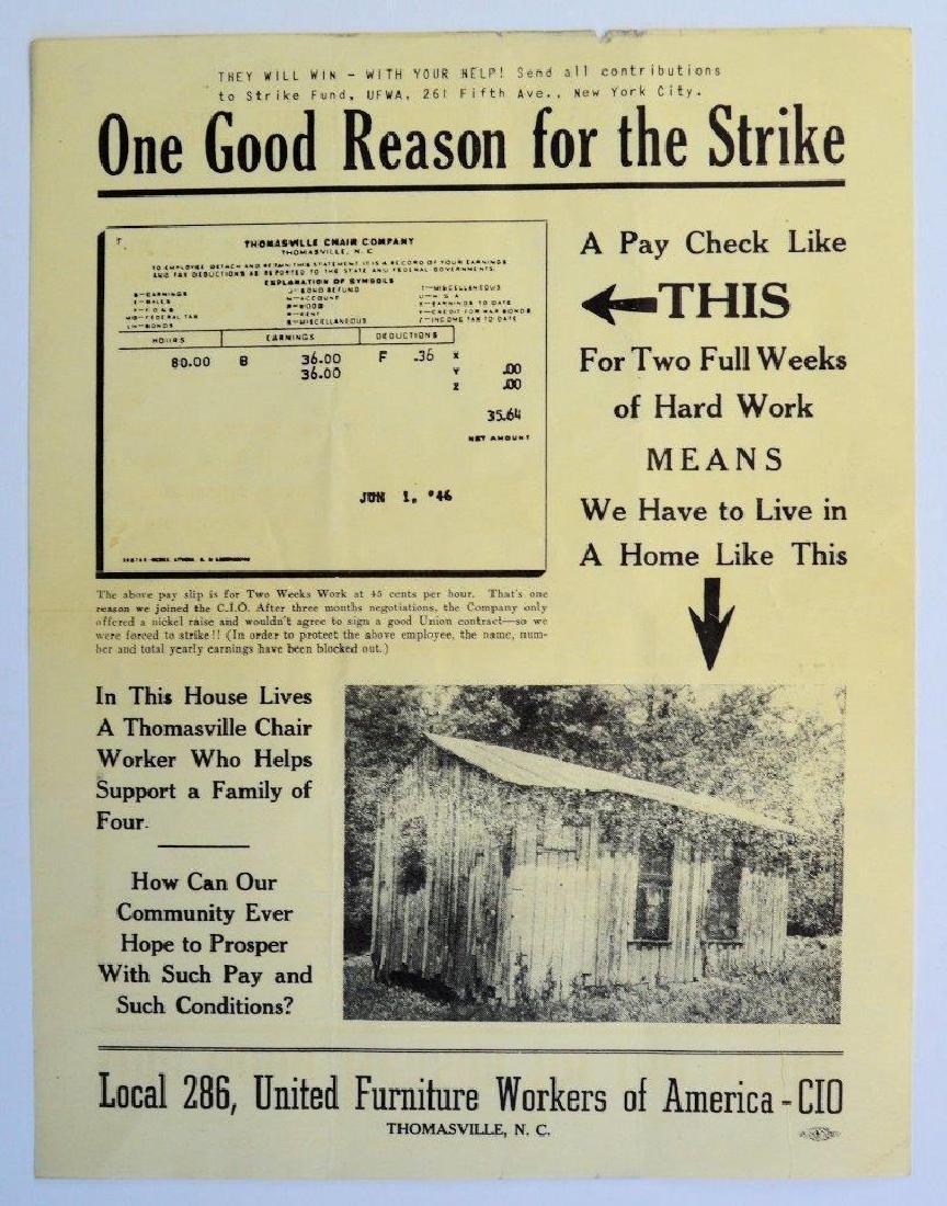 1946 Union Strike Propaganda United Furniture Workers