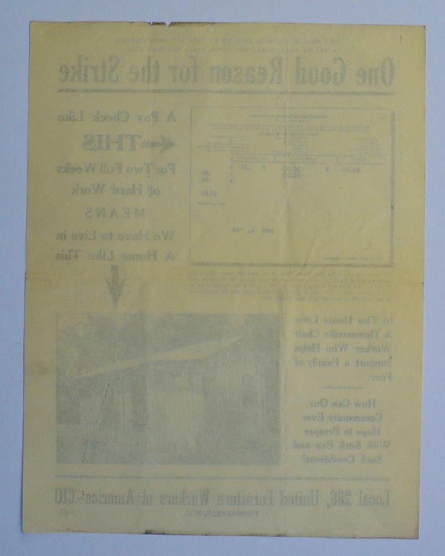 1946 Union Strike Propaganda United Furniture Workers - 2