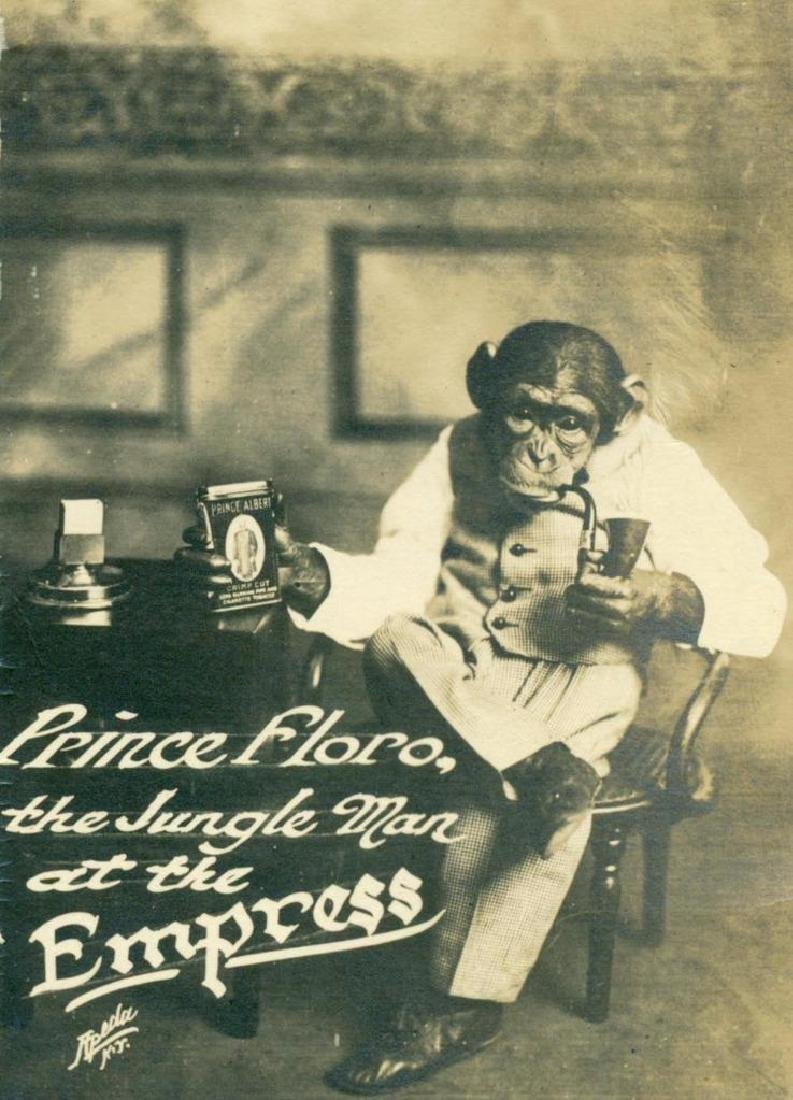 1913 Circus Vaudeville Monkey Prince Floro Tobacco Ad
