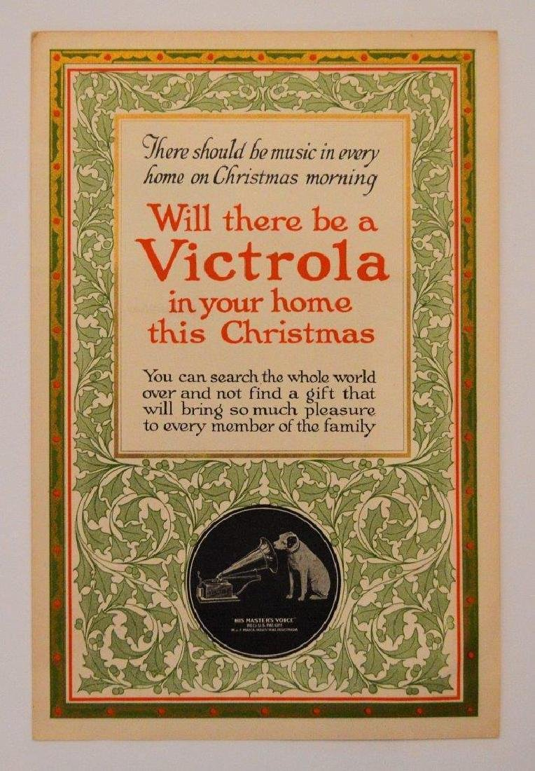 1916 Vintage Victor Victrola Iv Phonograph Christmas Ad