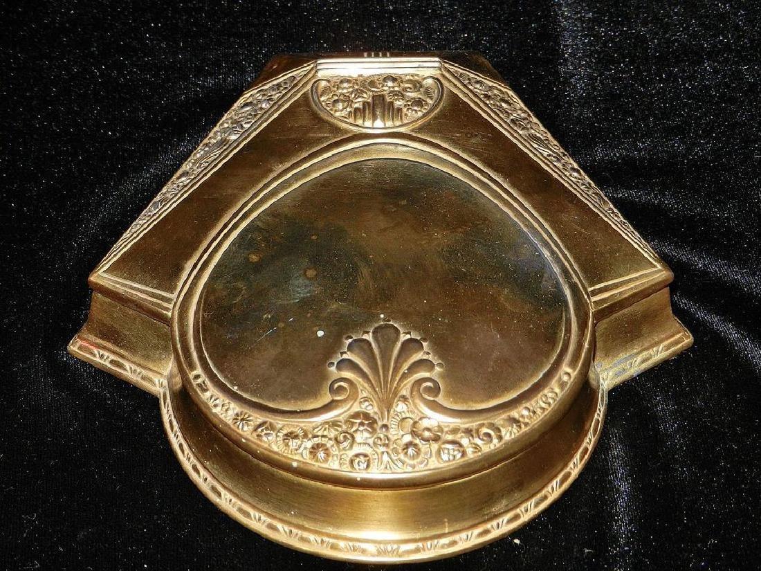 Vintage Art Deco Brass Powder Box - 3