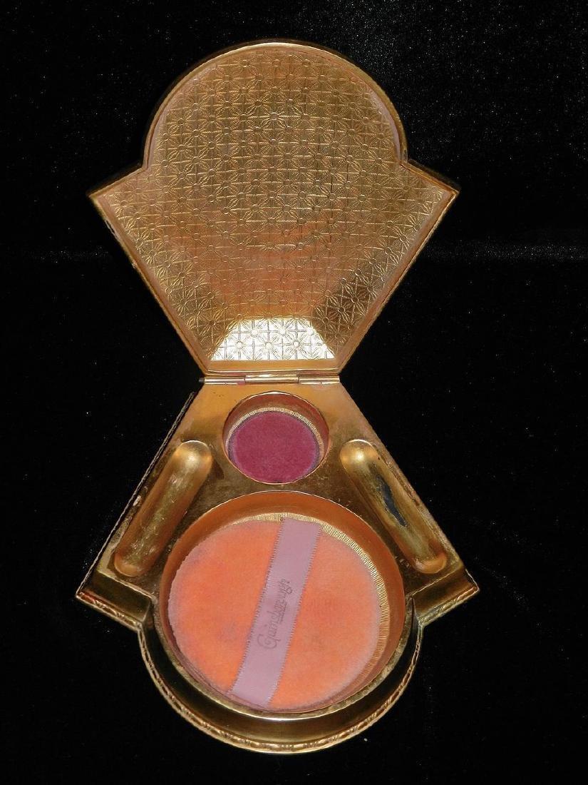 Vintage Art Deco Brass Powder Box - 4