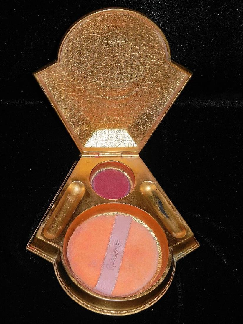 Vintage Art Deco Brass Powder Box - 5