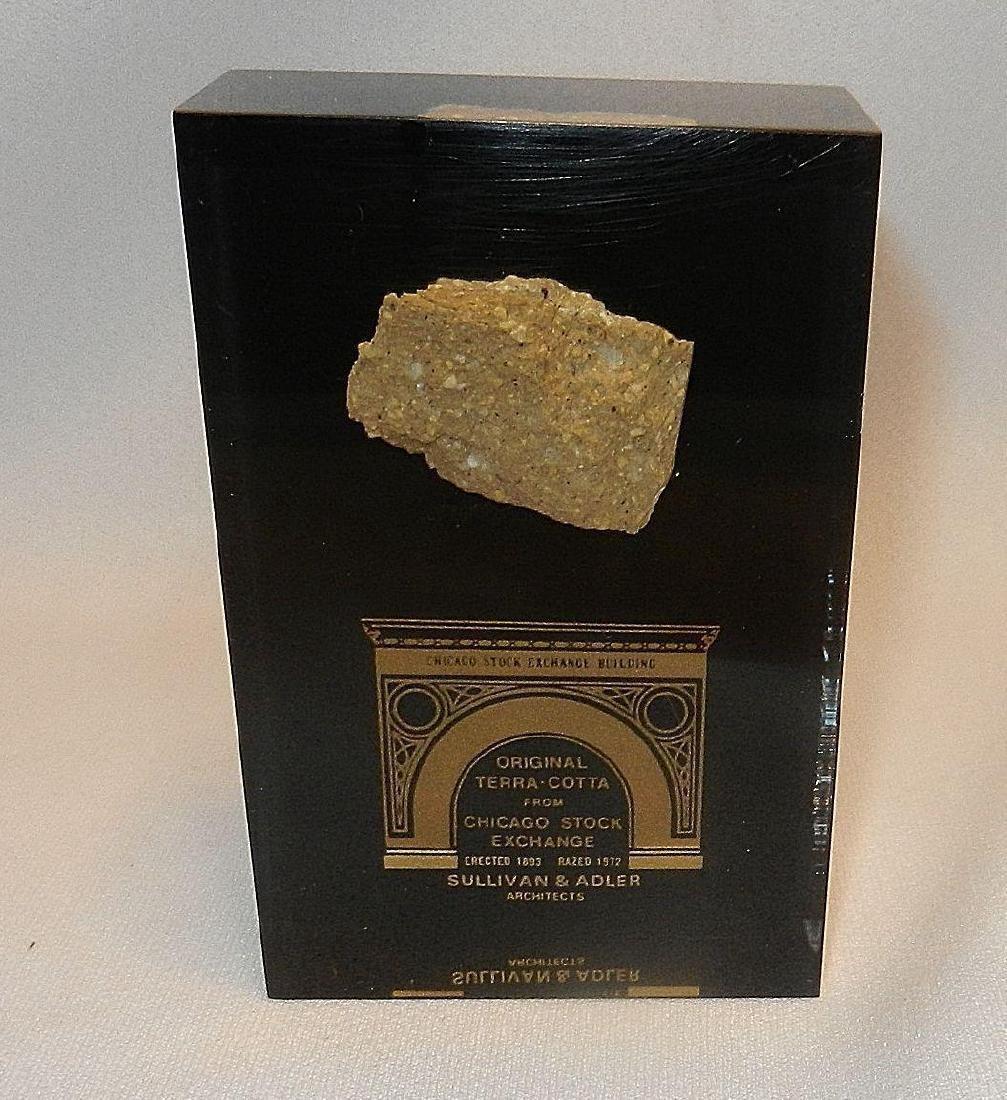 Vintage Chicago Stock Exchange Terra Cotta Salvage - 2