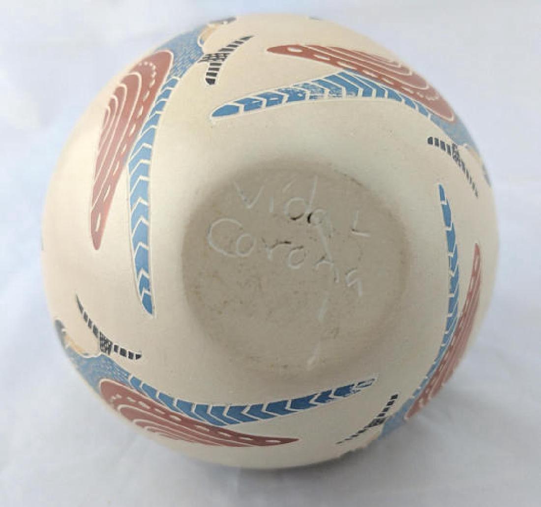 Vidal Corona, Mata Ortiz Polychrome Ceramic Parrot Pot - 5