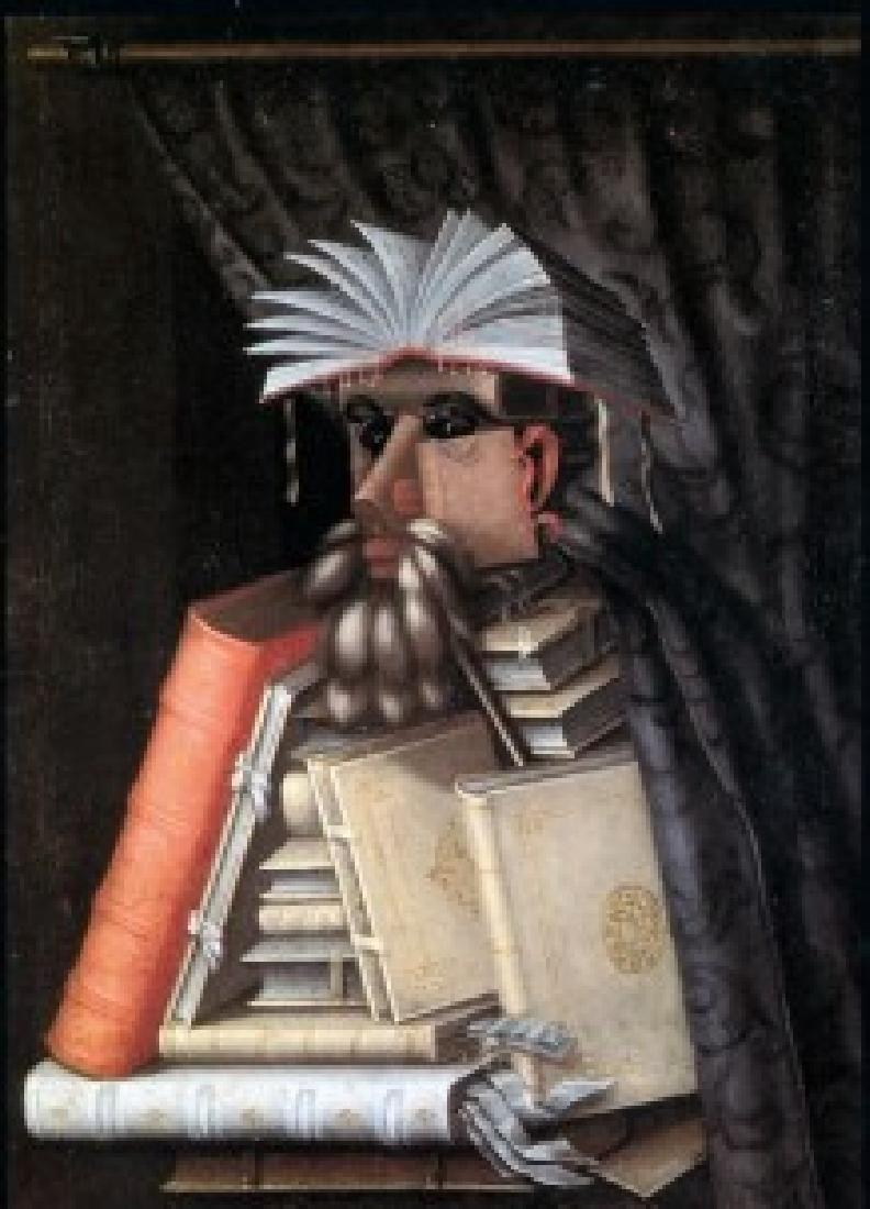After Giuseppe Arcimboldo: Bibliotecario Bust Statue - 5