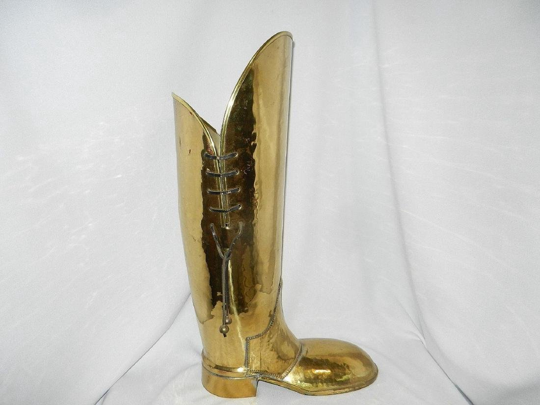 Vintage Brass Coachman's Boot Lombard Style - 2