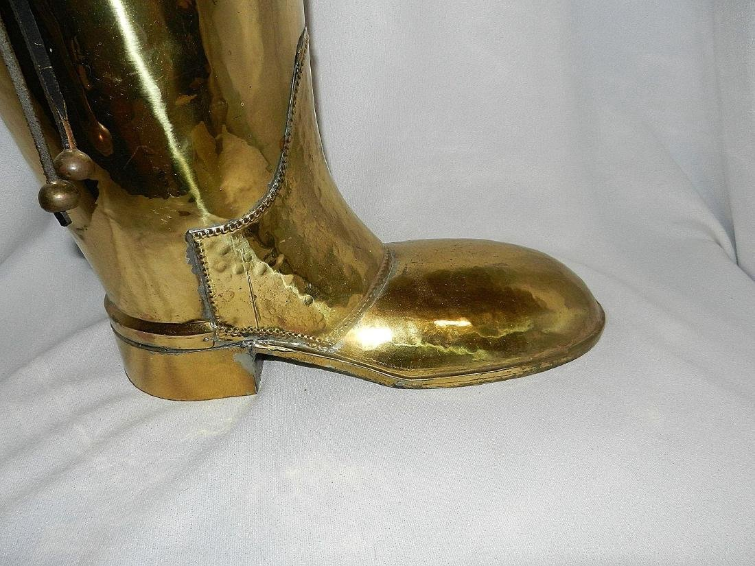 Vintage Brass Coachman's Boot Lombard Style - 3