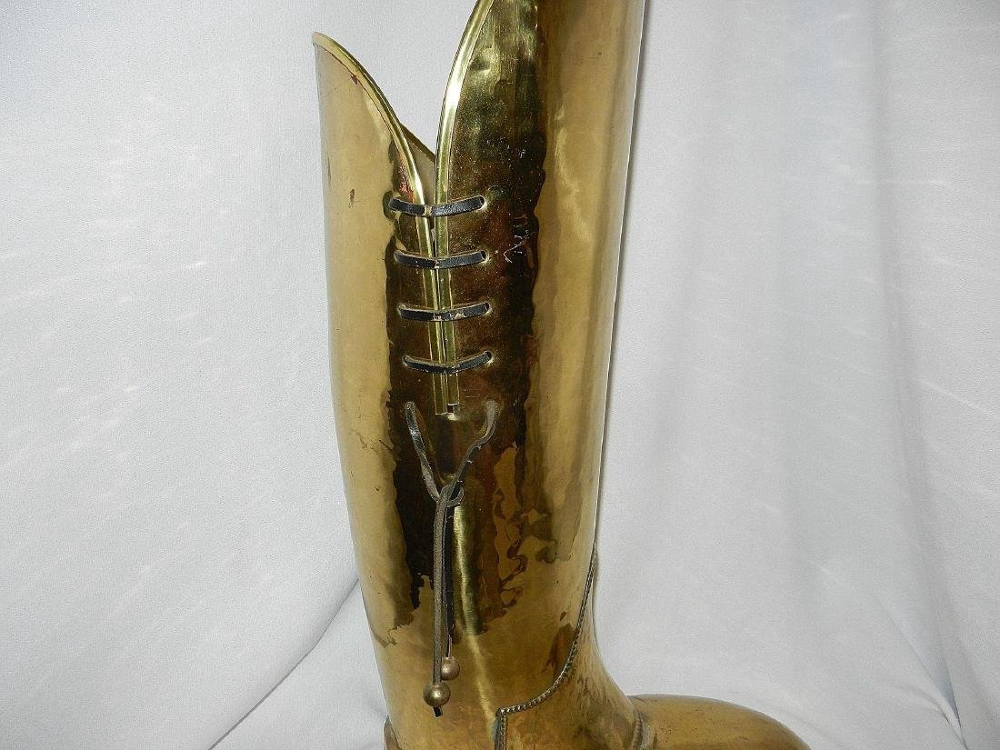 Vintage Brass Coachman's Boot Lombard Style - 4