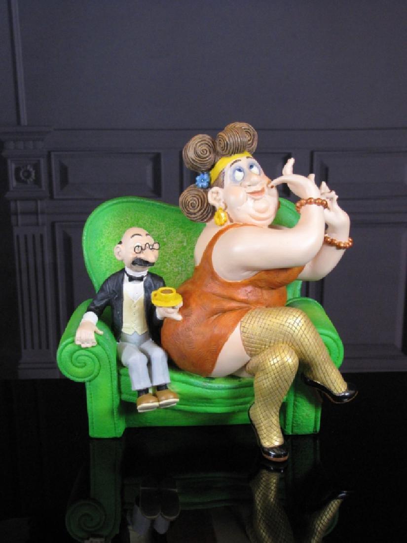 After Albert Dubout: Jeu De Seduction Statue