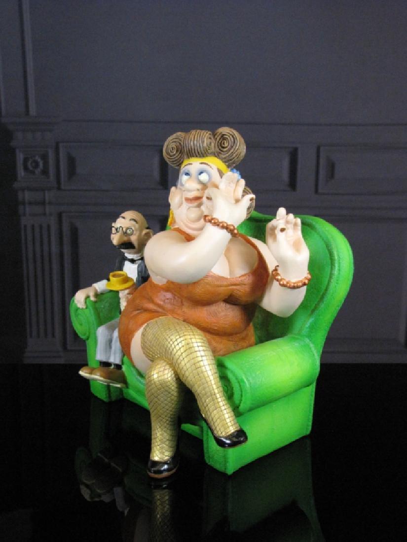 After Albert Dubout: Jeu De Seduction Statue - 2