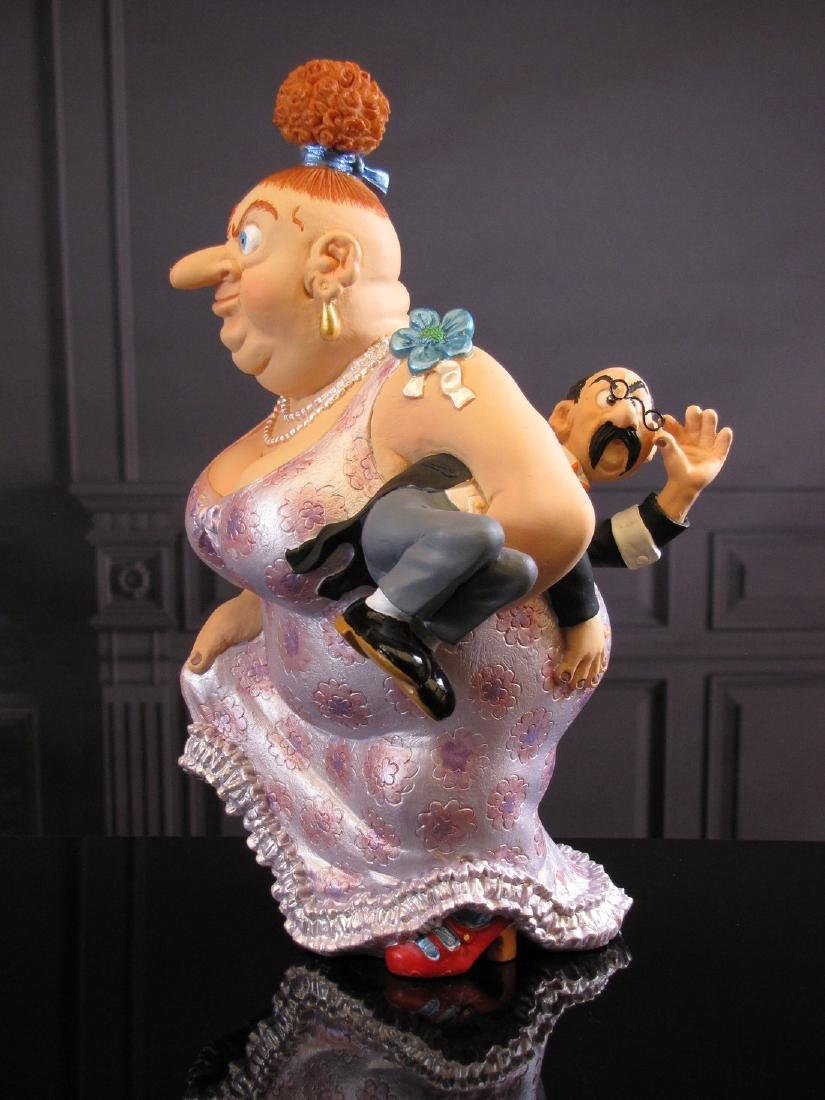 After Albert Dubout: Mon mari est fatigue Statue