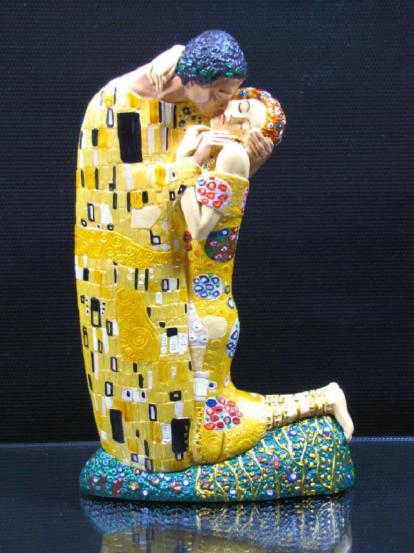 After Gustav Klimt: The Kiss Mouseion Collection Statue