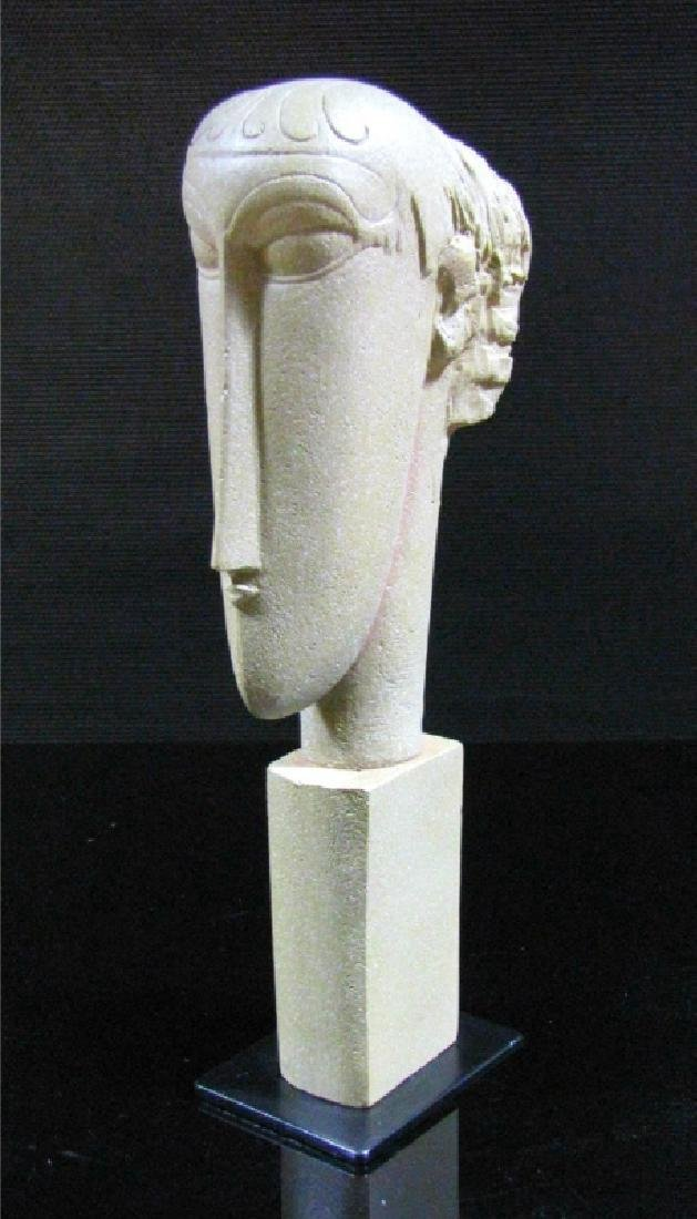 After Amedeo Modigliani: Tetes Amed Statue