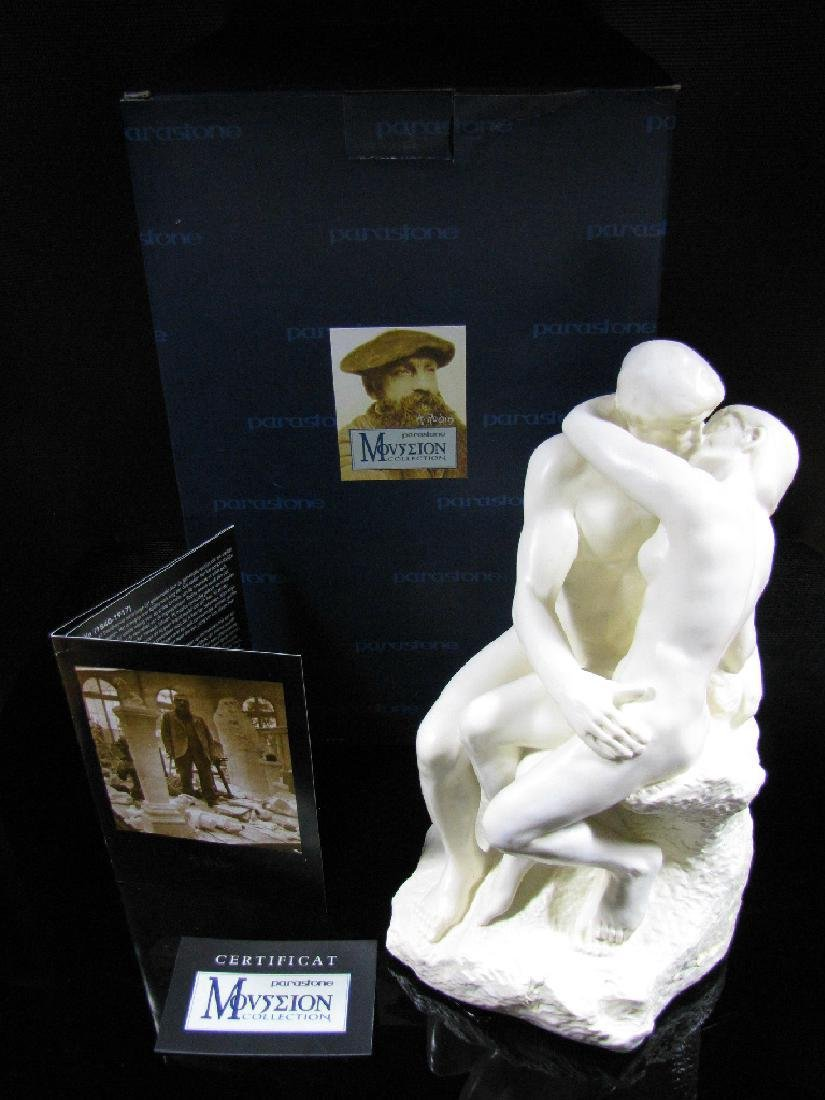 After Auguste Rodin: The Kiss - Mouseion Statue - 6