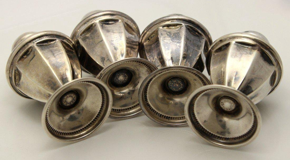Vintage Sterling Silver Salt & Pepper Shakers, 2 Sets - 4