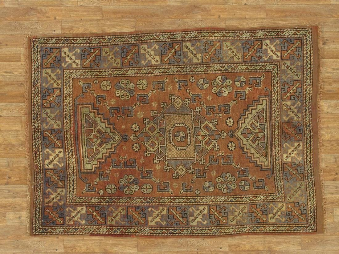 Turkish Kazak Rug 4.1x5.9