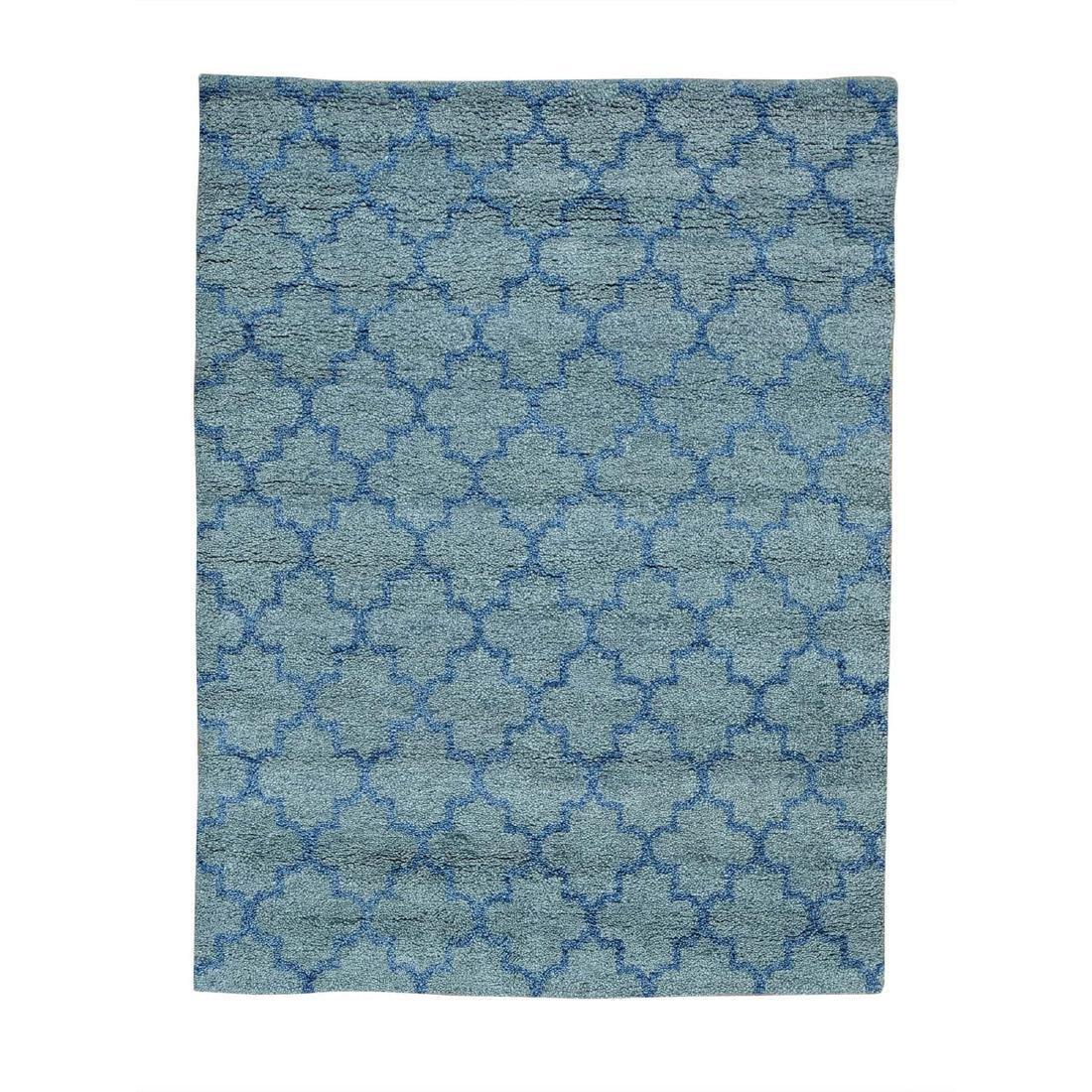 Handmade Pure Wool Grey Moroccan Berber Rug 5.1x6.9