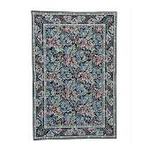 Needlepoint Hand Stitched Pure Wool Rug 5.9x8.9