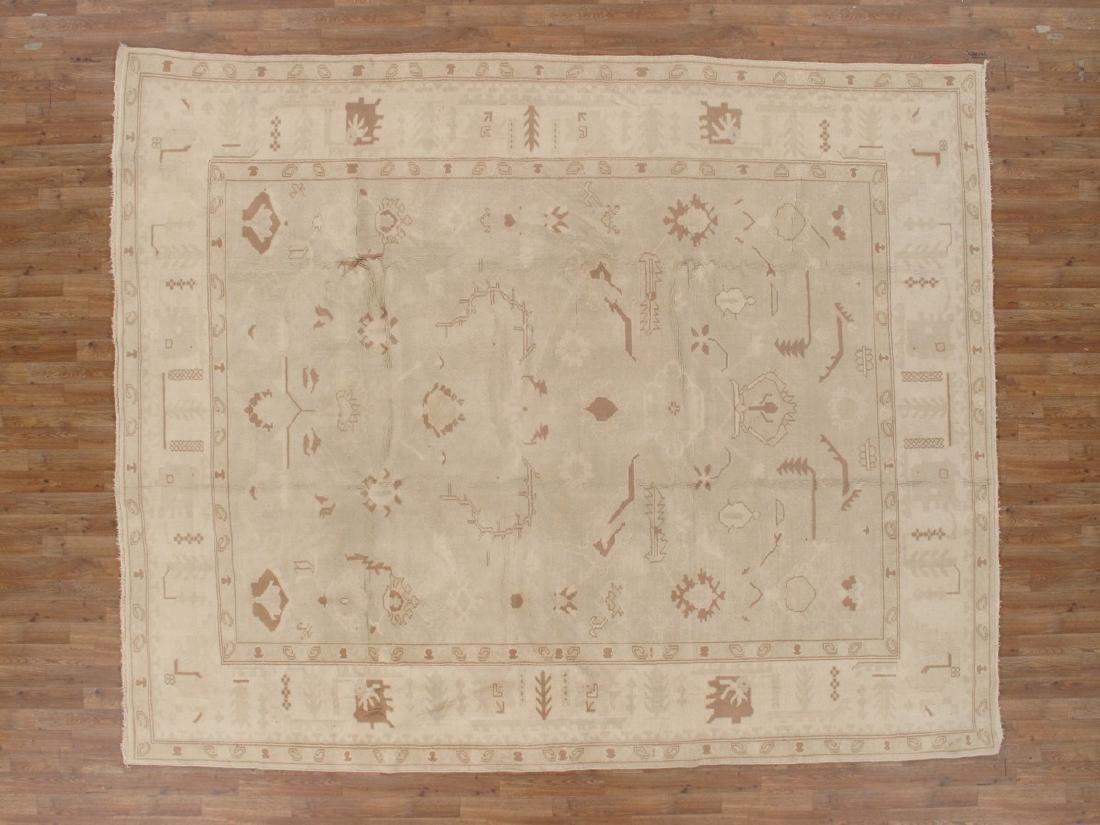 Vintage Oushak Rug 8.11x11.1 - 9