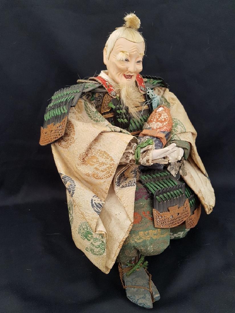 Antique Japanese Musha Ningyo Doll, c1890-1900