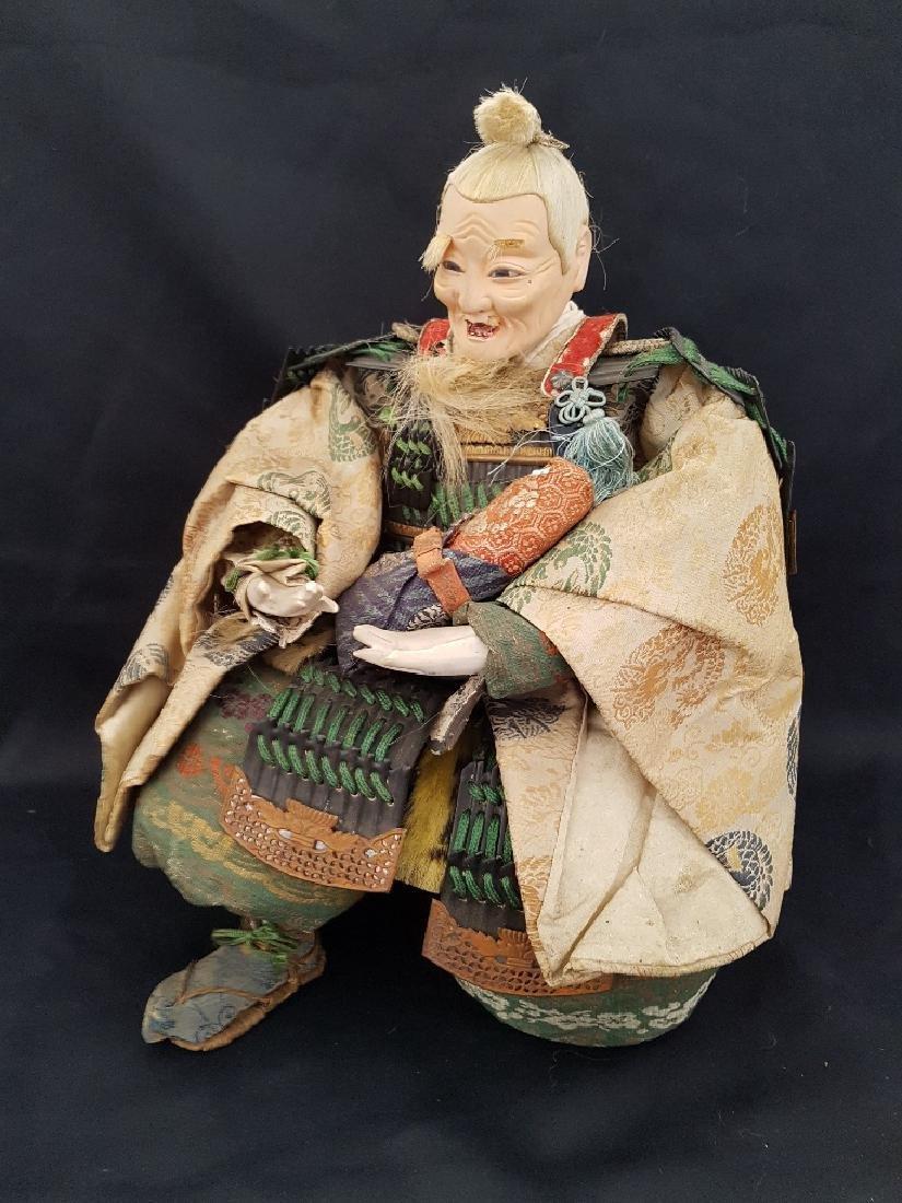 Antique Japanese Musha Ningyo Doll, c1890-1900 - 2