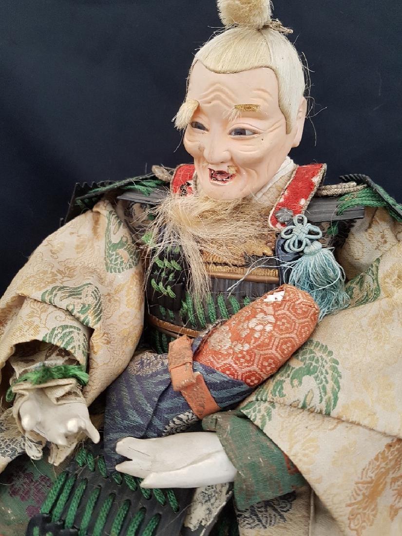 Antique Japanese Musha Ningyo Doll, c1890-1900 - 3