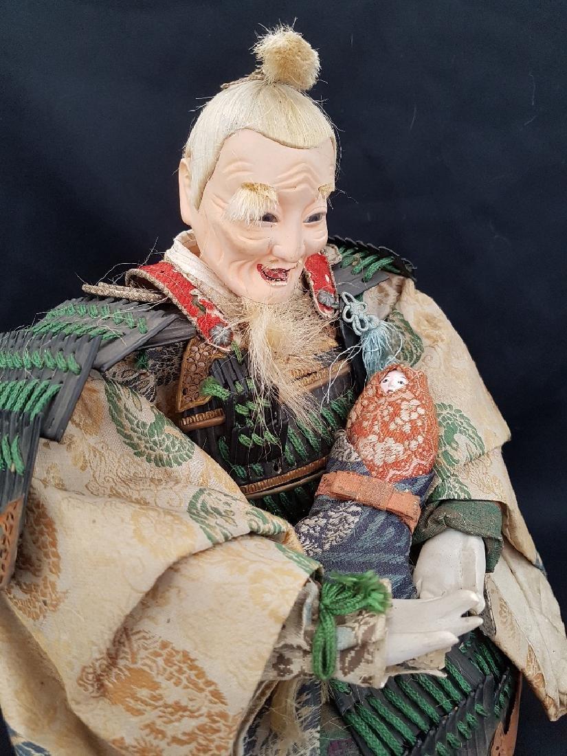 Antique Japanese Musha Ningyo Doll, c1890-1900 - 4